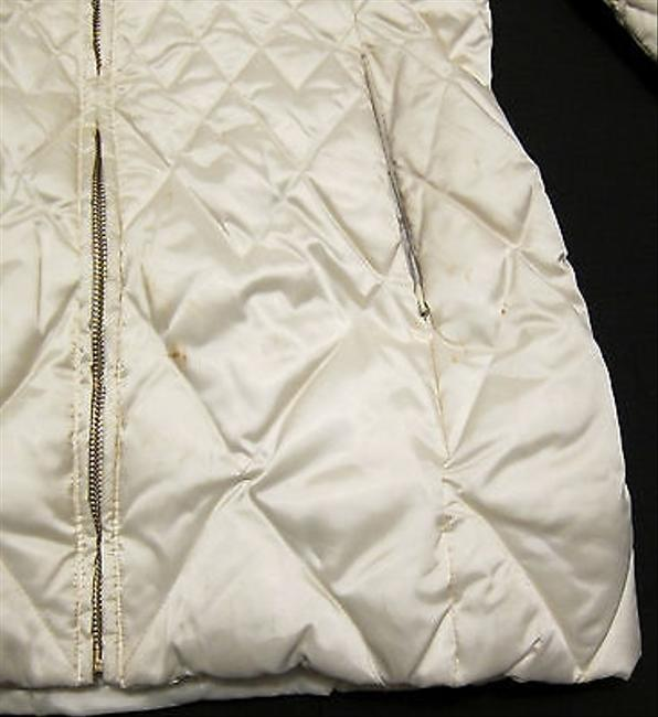 Laundry by Shelli Segal Quilted Long Down Jacket With Fur Trim Hood Coat