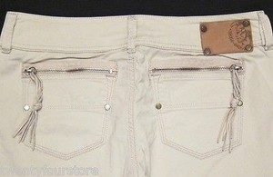 Diesel Reckfly W Zipper Pockets In 20u Tan Khaki Straight Leg Jeans