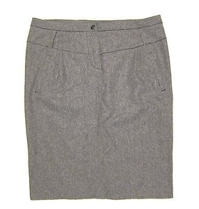 Armani Collezioni Wool Pencil Skirt Gray