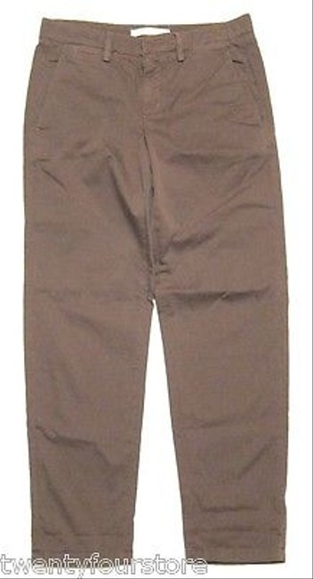 Vince Relaxed Cropped Chino Cotton In Olive Pants