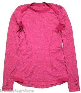 Lululemon Lululemon Base Runner Ls Long Sleeve Shirt Raspberry Mini Check Pique Pink
