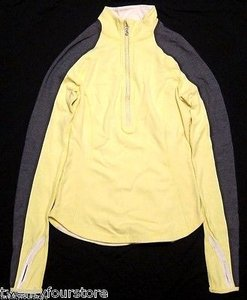 Lululemon Lululemon Run U-turn Pullover Half Zip Reversible Clarity Yellow Coal Blue