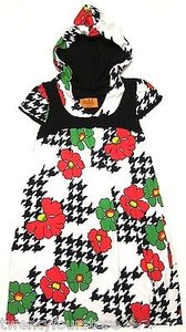 Voom by Joy Han short dress Multi-Color Hooded Babydoll Floral Houndstooth on Tradesy