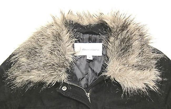 French Connection Style By Insulated Corduroy Parka With Faux Fur Collar Coat