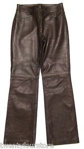 Banana Republic Leather In Brown 0 X Boot Cut Jeans
