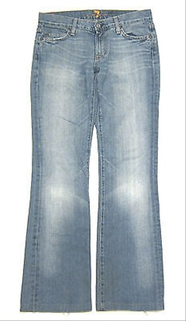 7 For All Mankind Seven In Cairo Older Rigid Wash Boot Cut Jeans