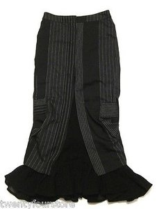 Other Togs Soho Long Suit Novelty Reconstructed Maxi Skirt Black
