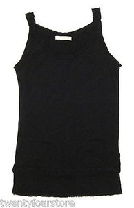 JOE'S Jeans Supima Cotton Raw Edge Tank Shirt In T Shirt Black