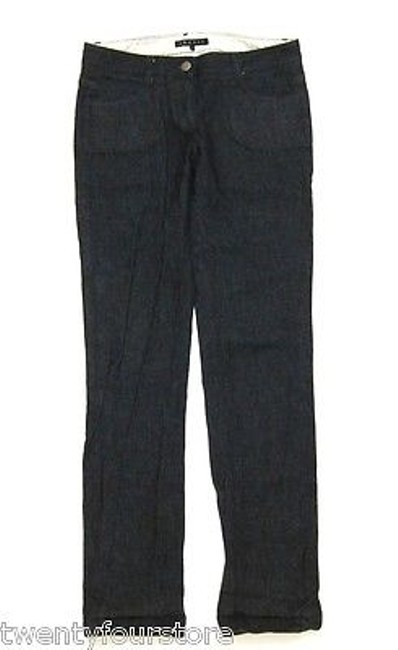 Theory Rinsed Indigo With Utility Front Pockets 0 Stretch Straight Leg Jeans