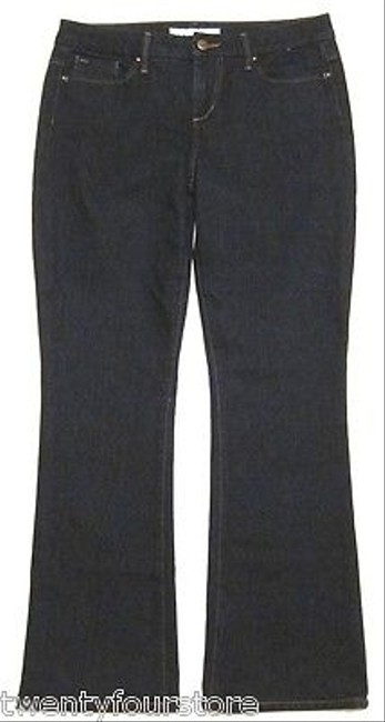 JOE'S Jeans Muse Mid Rise In Wash Mulholland Dark Blue Short Boot Cut Jeans