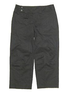 Nanette Lepore Belted In Stretch Cotton Capri/Cropped Pants Black