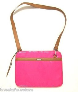 Rebecca Minkoff Crossbody Notebook In Neon Patent Leather Laptop Bag
