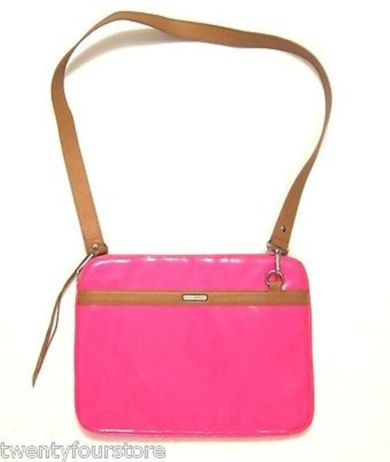 Item - Crossbody Laptop Notebook Bag In Neon Pink Patent Leather