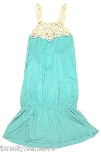 Lucky Brand short dress Blue Bathing Suits Terry Crochet Cover Up In Teal on Tradesy