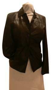 Esprit Leather Women's Lightweight Small BLACK Leather Jacket