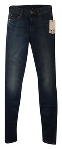 Mother Looker Skinny Jeans-Medium Wash