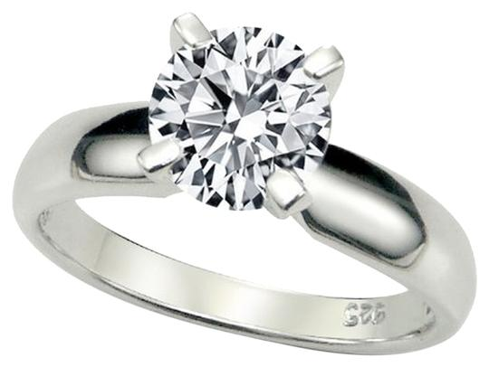 Metal Factory Sterling Silver Engagement Ring