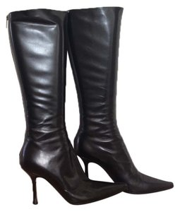 Jimmy Choo Boot Knee High Leather Black Boots