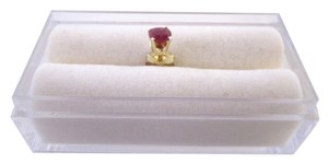 Other Ruby Single Stud Earring set in 14k Yellow Gold, 4mm RD