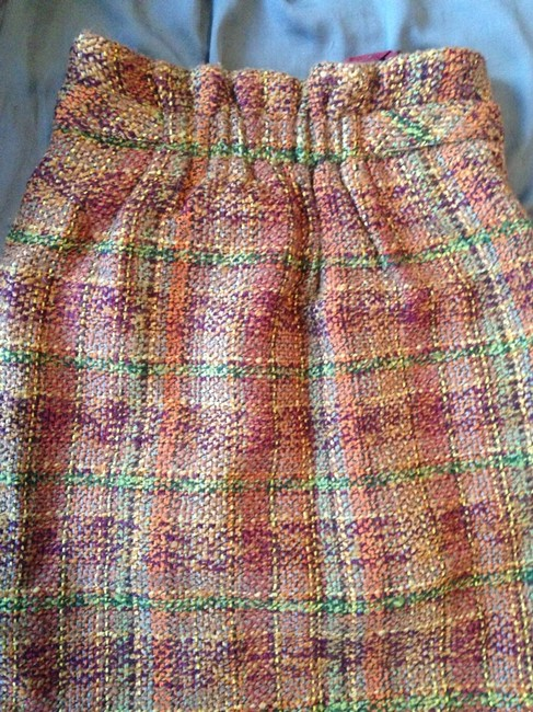 Anthropologie Skirt Multi Mustard Rust Burgundy Olive Tan Brown