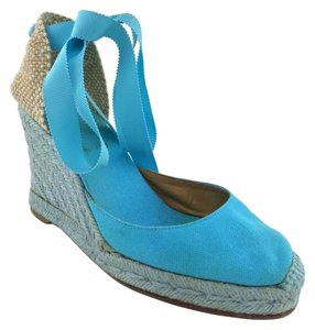 Christian Louboutin Light Blue Wedges