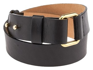 Streets Ahead Streets Ahead Black Leather Belt, Size XS (3704)