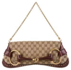 Gucci Brown And Tan Clutch