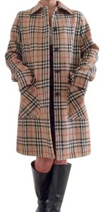 Burberry Nova Check Wool Pea Coat
