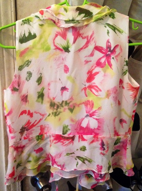 Charter Club Top Floral Pink Green White