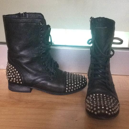 Steve Madden Black with silver metal studs Boots