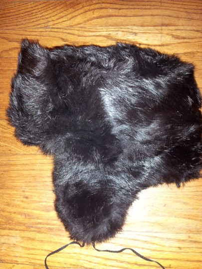 Unknown/Century 21 Vintage Black Dyed Rabbit Fur Trapper Hat