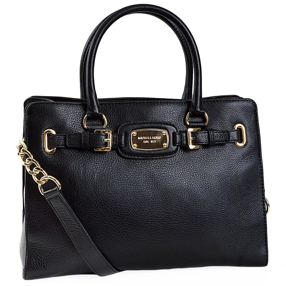 35da6efb3d8d Michael Kors Hamilton Large Ew Tech Tote A2289d Black Leather Shoulder Bag  - Tradesy