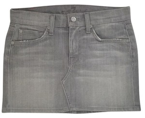7 For All Mankind Mini Skirt Gray