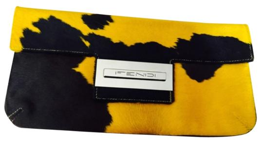 Preload https://item4.tradesy.com/images/fendi-collectible-baguette-yellow-and-brown-pony-hair-clutch-6043933-0-1.jpg?width=440&height=440