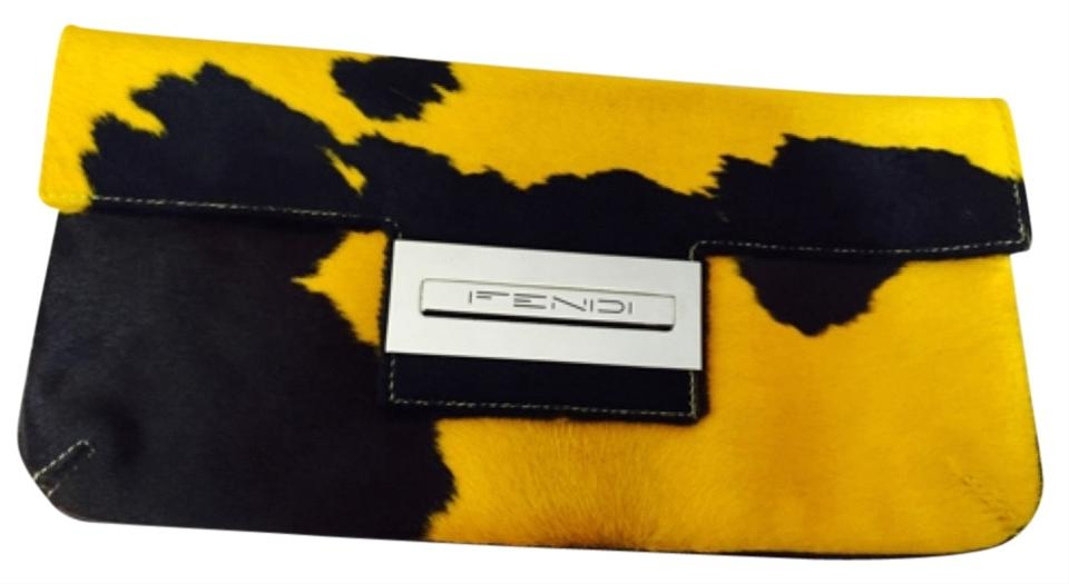 Fendi Collectible Baguette Yellow and Brown Pony Hair Clutch - Tradesy 57db7e5e5e