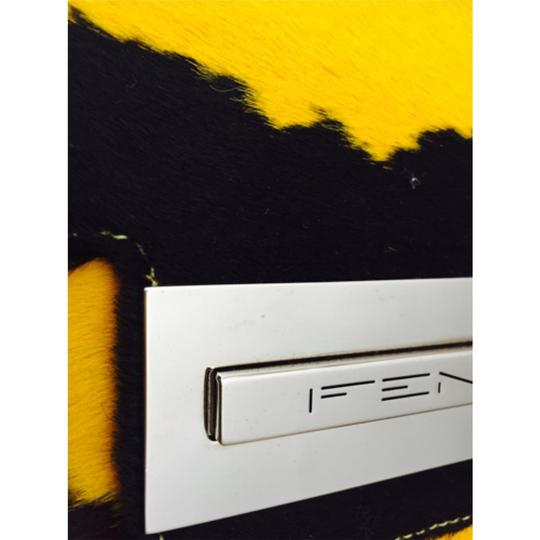 Fendi Vintage Yellow and brown Clutch