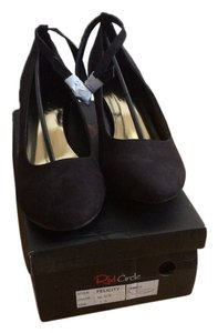 Red Circle Footwear Black Wedges