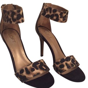 Ann Taylor LOFT Black and leopard Pumps
