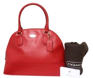 Coach Satchel in Cardinal Red