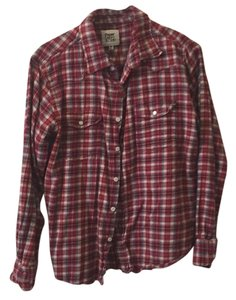 Paper Denim & Cloth Button Down Shirt Red