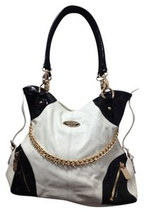 Christine Price Patent Leather Gold Chains Shoulder Bag