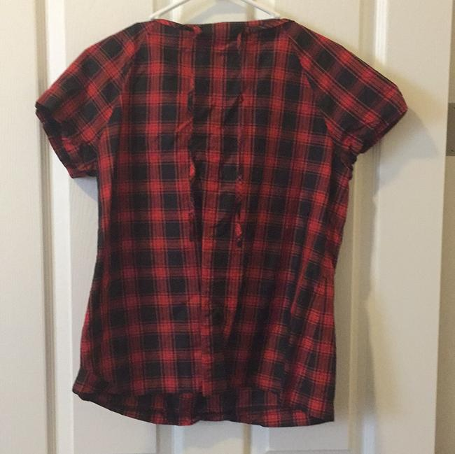 J.Crew Top Red, black