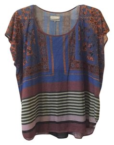 Anthropologie Top Purple, blue, black