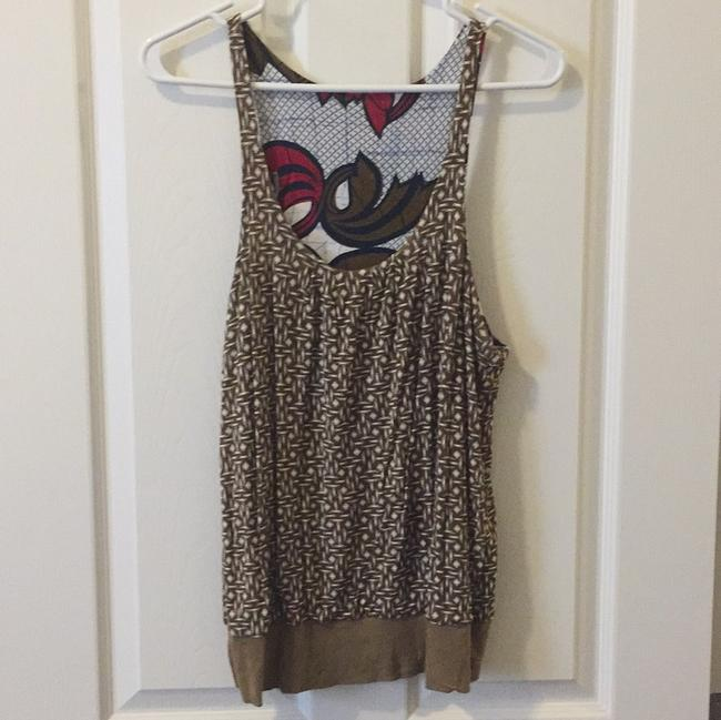 Anthropologie Top Blue, red, brown
