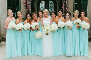 Mori Lee Mint Dress