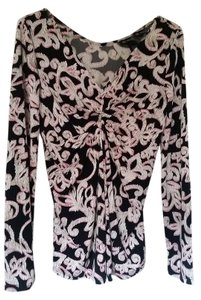 INC International Concepts Top Black/white/pink