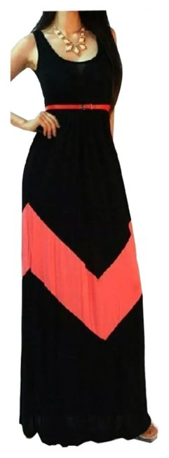 Black & Red Maxi Dress by Other Boho Sleeveless Free People Party Prom
