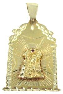14KT SOLID YELLOW GOLD PENDANT 6.3 GRAMS RELIGIOUS VIRGIN RUBY NO SCRAP JEWELRY