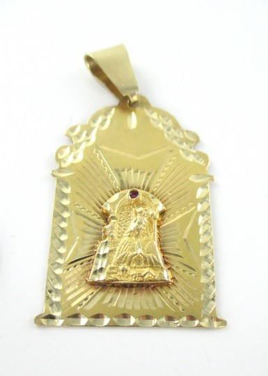 Other 14KT SOLID YELLOW GOLD PENDANT 6.3 GRAMS RELIGIOUS VIRGIN RUBY NO SCRAP JEWELRY