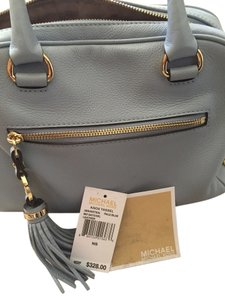 Michael Kors Gold Hardware Satchel in pale blue